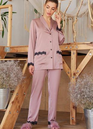 Темно лиловая пижама для сна