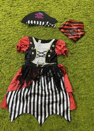Платье пиратка разбойница на7-8лет