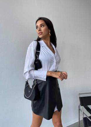 Женский костюм 2ка рубашка с юбкой