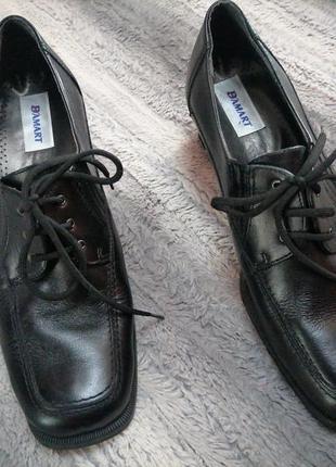 Демисезонные  женские кожаные туфли