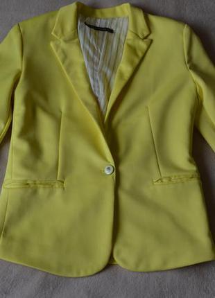 Пиджак лимонный