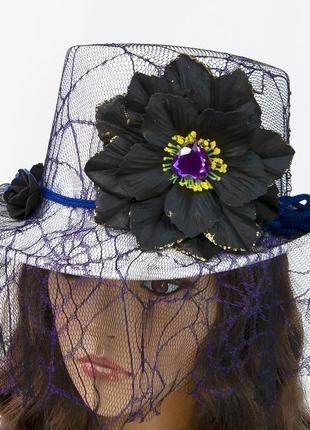 Белая женская шляпа цилиндр стимпанк викторианский стиль + подарок