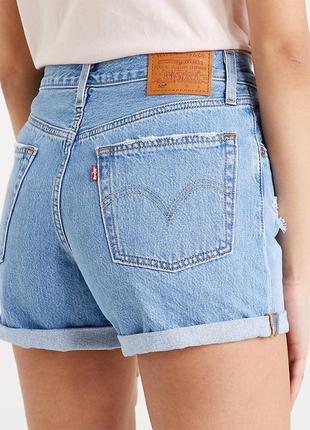 Женские светло-синие джинсовые шорты  levi's 501