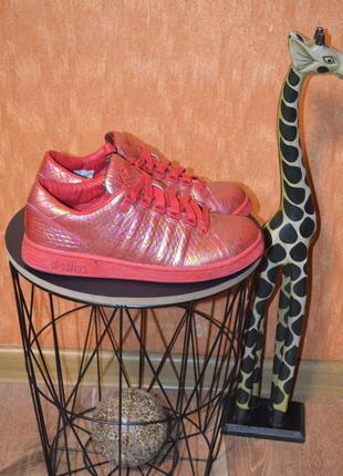 Красные кроссовки k-swiss lozan reptile