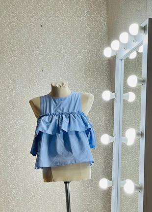 Шикарный топ блуза кофточка с воланом