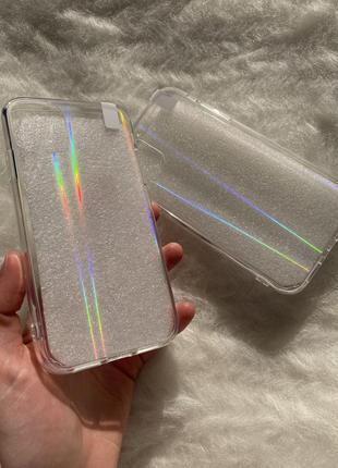 Прозрачный силиконовый чехол на айфон 11