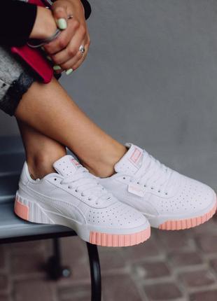 🖤🖤🖤кроссовки puma cali white/pink
