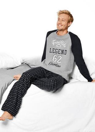 Теплая пижама мужская livergy, комплект для дома и сна германия