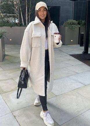 Пальто рубашка h&m l-xl оверсайз