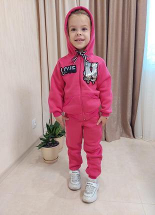 Теплые спортивные костюм детские для девочек pvl