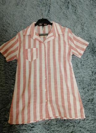 Рубашка из натуральной ткани в полоску