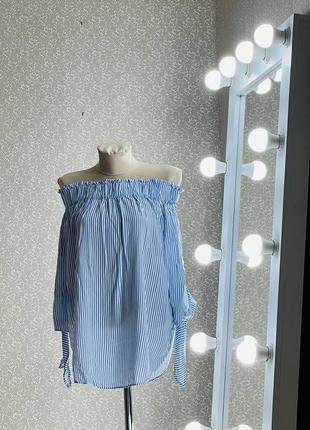 Шикарная блуза с открытыми плечами