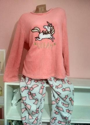 Теплая пижамка комплект плюш