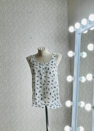Шикарный шифоновый топ блуза