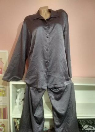 Атласная пижама комплект