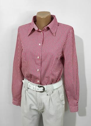 Сорочка в червоно-білу клітинку\рубашка в клетку