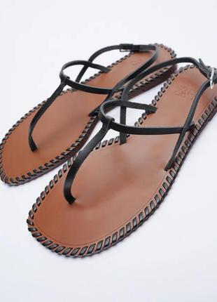 Zara босоножки, сандалии, кожаные сандали, босоножки кожа