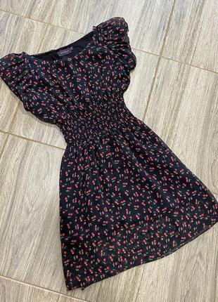 Сарафан платье шифоновый мода 2021 в цветочный принт