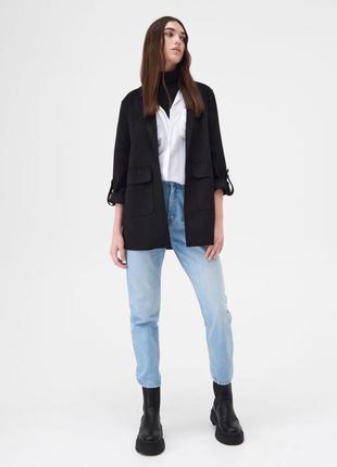 Чёрное пальто от бренда sinsay 🖤🤍