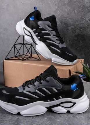 Кросівки чоловічі акуда орландо чорно-сірі (в02110)