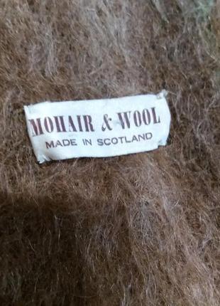Теплый шерстяно-мохеровый шарф