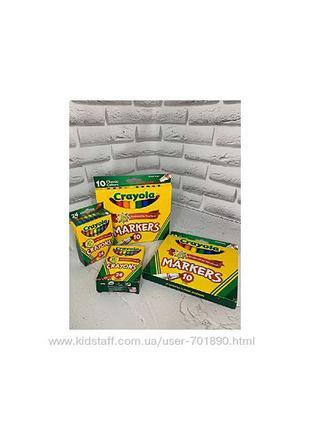 Фломастеры и восковые мелки crayola
