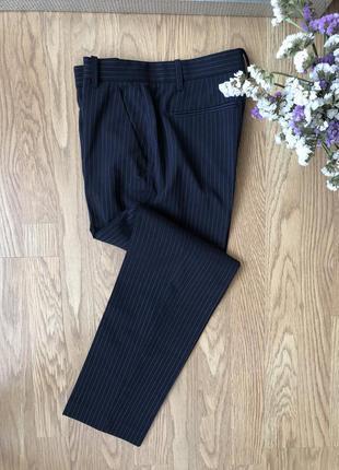 Брюки штани pinko полоска класика темно-сині