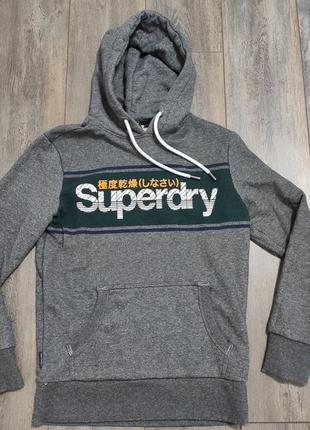 Мужская худи толстовка кофта superdry japan размер m - l