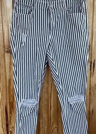 Полосатые джинсы h&m