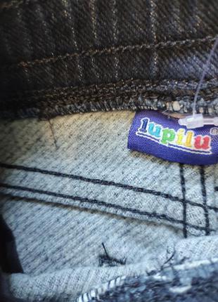 Тёплые, стильные  джинсы джогеры lupilu3 фото