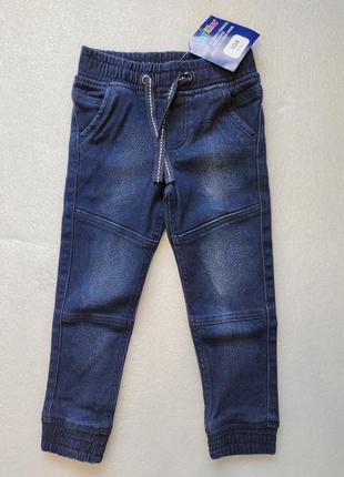Тёплые, стильные  джинсы джогеры lupilu1 фото