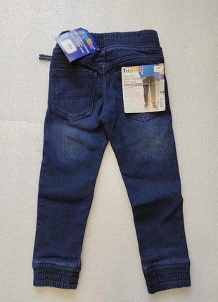 Тёплые, стильные  джинсы джогеры lupilu2 фото