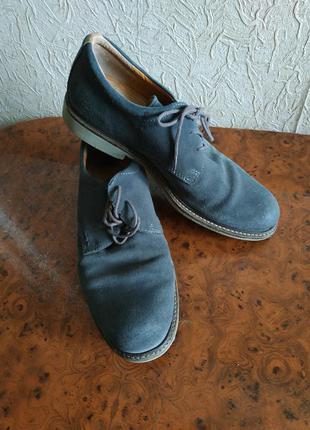Мужские замшевые туфли, кожаные 42р, экко