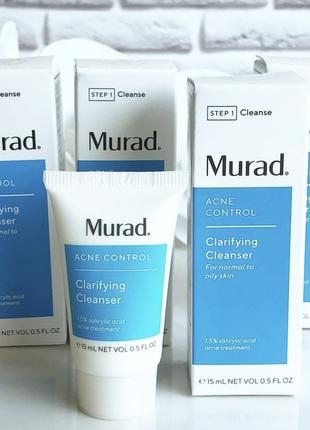 Очищающий гель для умывания murad acne control clarifying cleanser