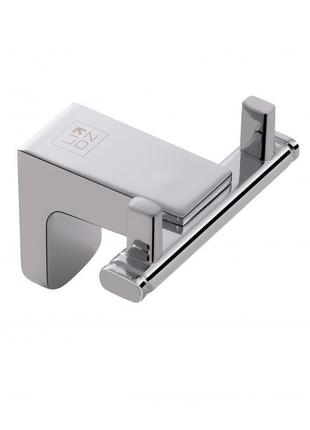 Крючок для полотенец двойной в ванную комнату (хром)