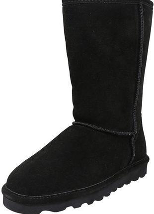 Зимові чоботи із натуральної замші для дівчинки