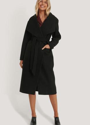 Шикарное черное пальто na-kd размер s