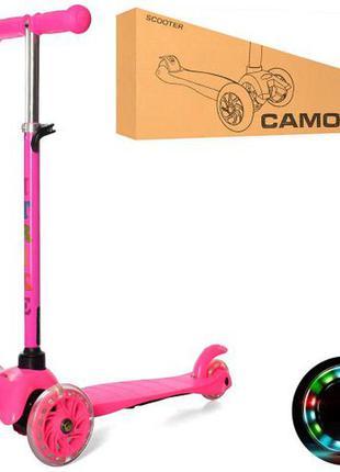 Детский самокат со светящимися колёсами