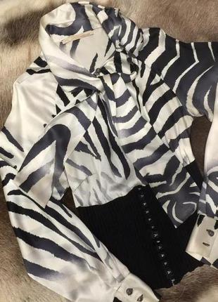 Блуза рубашка блузка rоberto cavalli натур шёлк оригинал s