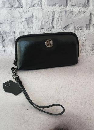 Жіночий шкіряний гаманець кожаный женский кошелек кожаная косметичка шкіряна
