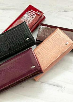 Жіночий шкіряний гаманець кожаный женский кошелек