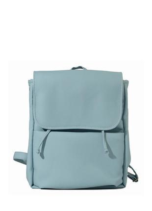 Вместительный женский голубой красивый рюкзак , для учеба, прогулки/офиса