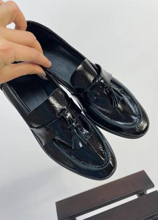 Шкіряні туфлі лофери кожаные туфли