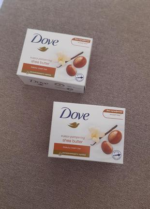 Мыло dove c маслом ши и ароматом ванили 100г