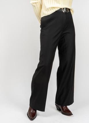 Theory шерстяные брюки wide leg