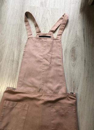 Замшевый розовый сарафан
