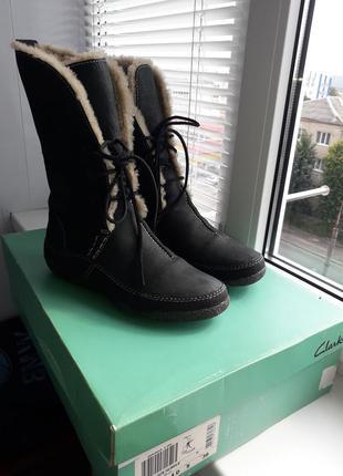 Сапожки ботинки зимние clarks