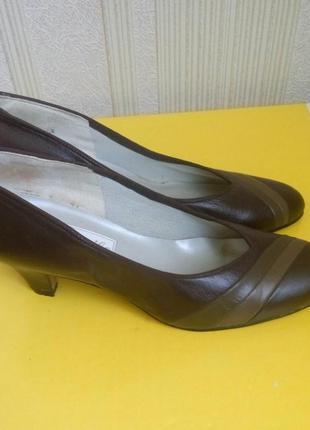 Туфли кожаные коричневые англия