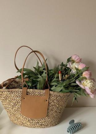 Соломенная сумка zara mango плетеная солом'яна сумка
