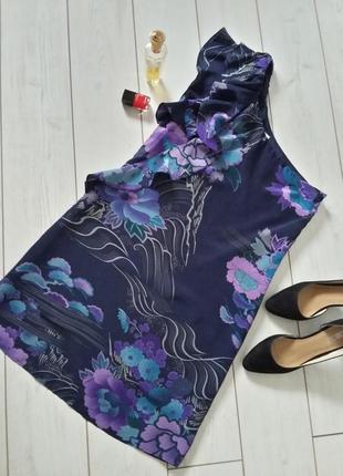 Роскошное платье миди 100% silk